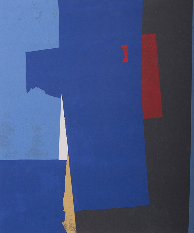 <strong>Lars Tiller</strong><br /> <em>Komposisjon</em><br /> Litografi, 99/150, 42 x 35 cm<br /> Signert n.t.h.: L.T.