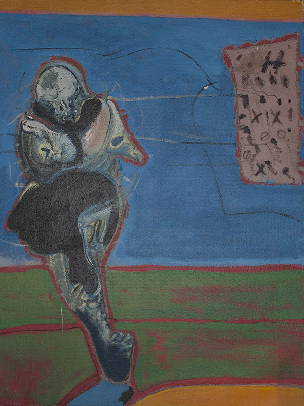 <strong>RYSZARD WARSINSKI</strong><br /> <em>Uten tittel</em>, ca. 1970-75<br /> Olje p&aring; lerret, 146 x 114 cm<br /> Usignert