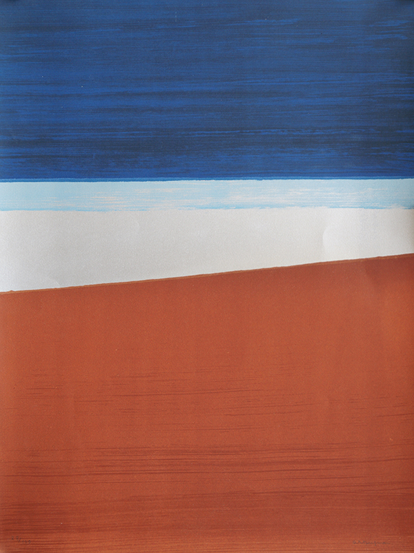 <strong>ANNA-EVA BERGMAN</strong><br /> <em>L10 1970 R&oslash;d Jord / Terre Rouge</em><br /> Litografi, 580 x 435 mm<br /> Signert n.t.h.: AE Bergman