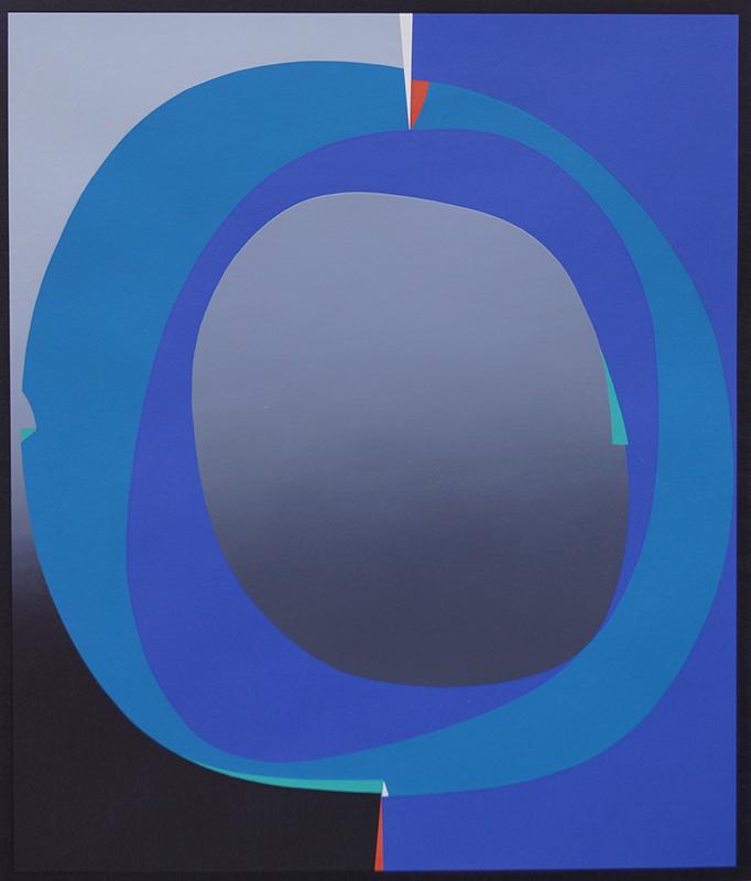 <strong>GUNNAR S. GUNDERSEN</strong><br /> <em>Komposisjon</em>, 1969<br /> Serigrafi, 166/250, 546 x 468 mm<br /> Signert n.t.h.: Gunnar S. -69
