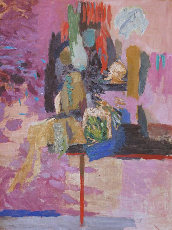<strong>THORE HERAMB</strong><br /> <em>Diva</em>, 1969<br /> Olje p&aring; lerret, 100 x 81 cm<br /> Signert n.t.h.: Th. Heramb 69