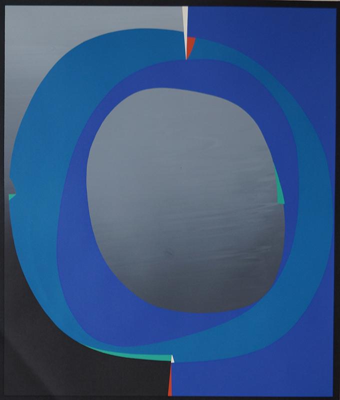 <strong>GUNNAR S. GUNDERSEN</strong><br /> <em>Komposisjon</em>, 1969<br /> Serigrafi, 214/250, 55 x 46 cm<br /> Signert n.t.h.: Gunnar S. -69