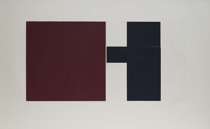 <strong>SIDSEL WESTB&Oslash;</strong><br /> <em>Dialog med Mondrian 8</em>, 1999<br /> Kodln&aring;l og h&oslash;ytrykk, E.T. 35 x 70 cm<br /> Signert n.t.h.: Sidsel Westb&oslash; 1999<br /> Opplag: 12