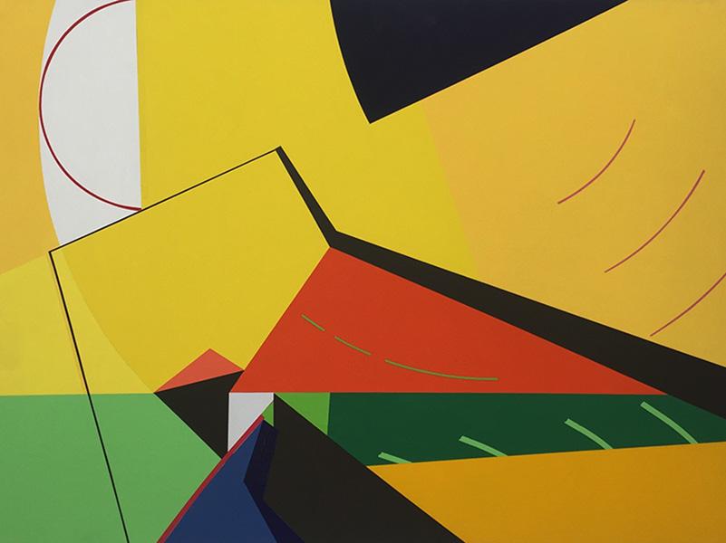 <strong>SUSANNE KATHLEN MADER</strong><br /> <em>El moron</em>, 2012<br /> Akryl p&aring; MDF, 61 x 84 cm<br /> Signert bak