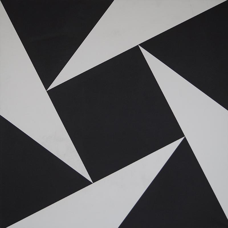<strong>HERMAN HEBLER</strong><br /> <em>Rotasjon S.H.</em><br /> Akryl p&aring; lerret, 105 x 105 cm