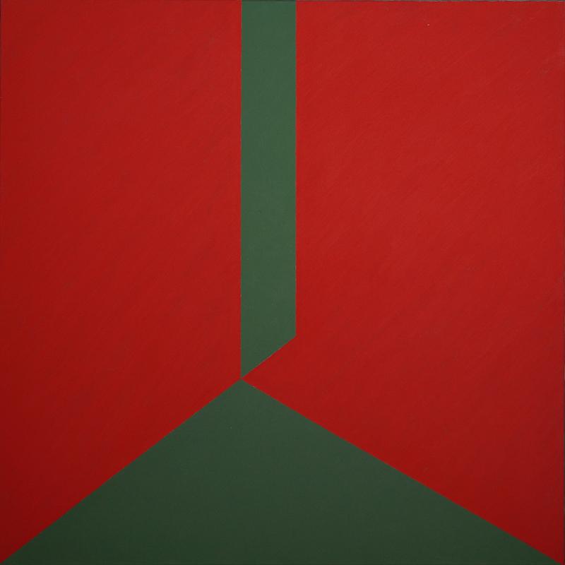 <strong>BJ&Oslash;RN RANSVE</strong><br /> <em>To farger</em>, 1989<br /> Olje p&aring; lerret, 125 x 125 cm<br /> RM 309 / P1989-017